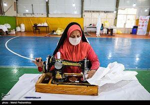 عکس/ جهاد بانوان بسیجی درمقابله با کرونا