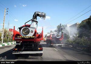 عکس/ ضدعفونی تهران با خودروهای غولپیکر