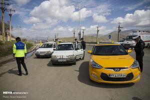 عکس/ اجرای طرح محدودیت تردد در سنندج