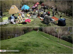 عکس/ تهران قبل و بعد از کرونا