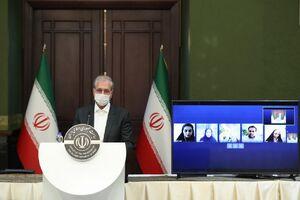عکس/ نشست خبری متفاوت سخنگوی دولت
