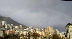عکس/ رنگینکمان زیبا بر فراز آسمان تهران