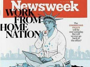 عکس/ دورکاری مجسمه آزادی آمریکا!