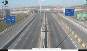 تصویری دیدنی از آزادراه تهران_کرج