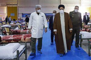 عکس/ بازدید رئیس قوه قضائیه از بیمارستان ارتش