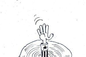 کاریکاتور/ بحران دستمال توالت در آمریکا!