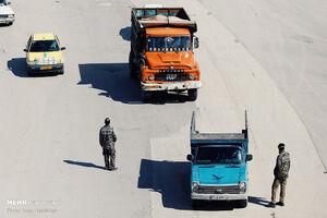 عکس/ تردد در ورودی شهر همدان