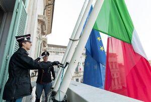 عکس/ اعلام عزای عمومی در ایتالیا