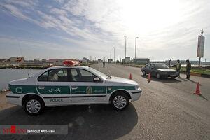 عکس/ اجرای طرح ممنوعیت تردد در آمل