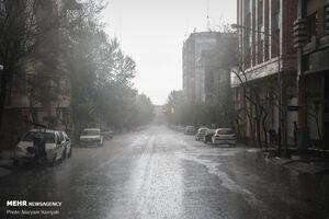 فیلم/ بارش شدید تگرگ در شهمیرزاد