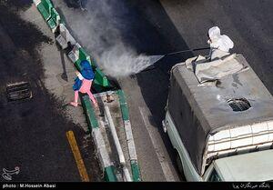 عکس/ ضدعفونی محدوده میدان شوش