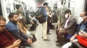 تصویری از وضعیت امروز متروی تهران