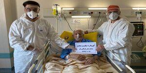 بیمار ۱۰۶ ساله قمی کرونا را شکست داد +عکس