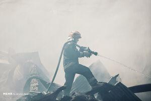 مهار آتشسوزی گسترده در همدان