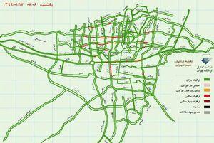 عکس/ ترافیک سنگین تهران در برخی نقاط