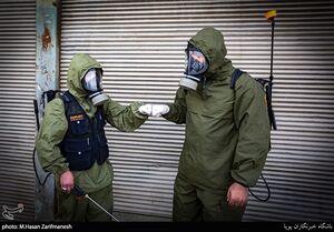 عکس/ ضدعفونی مناطق محروم توسط یگان فاتحین