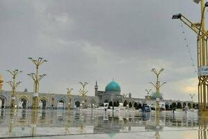 فیلم/ بارش شدید برف در حرم مطهر امام رضا(ع)