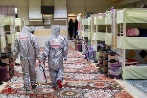 عکس/ اقدامات پیشگیرانه از شیوع کرونا در ندامتگاه زنان