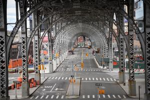 خیابانهای خلوت نیویورک در روزهای قرنطیه