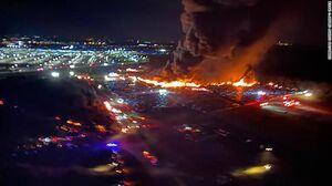 آتشسوزی فرودگاه فلوریدای آمریکا