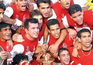 عکس/ قهرمان اولین دوره لیگ برتر فوتبال
