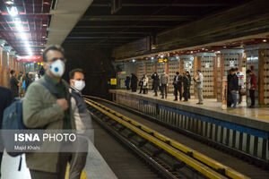 مترو تهران در روزهای کرونایی