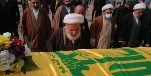 خاکسپاری فرمانده شهید حزبالله در «جبشیت» +عکس