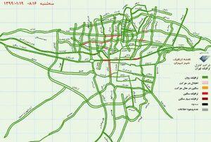 ترافیک در خیابانهای پایتخت+عکس