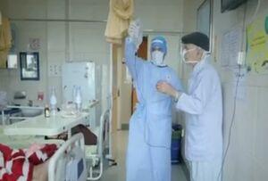 فیلم/ روحانی جهادگر در بیمارستانهای تهران
