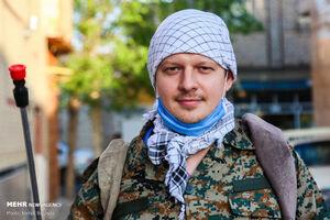 عکس/ طلبه جهادی اهل روسیه