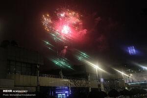 عکس/ نورافشانی برج میلاد در شب نیمه شعبان