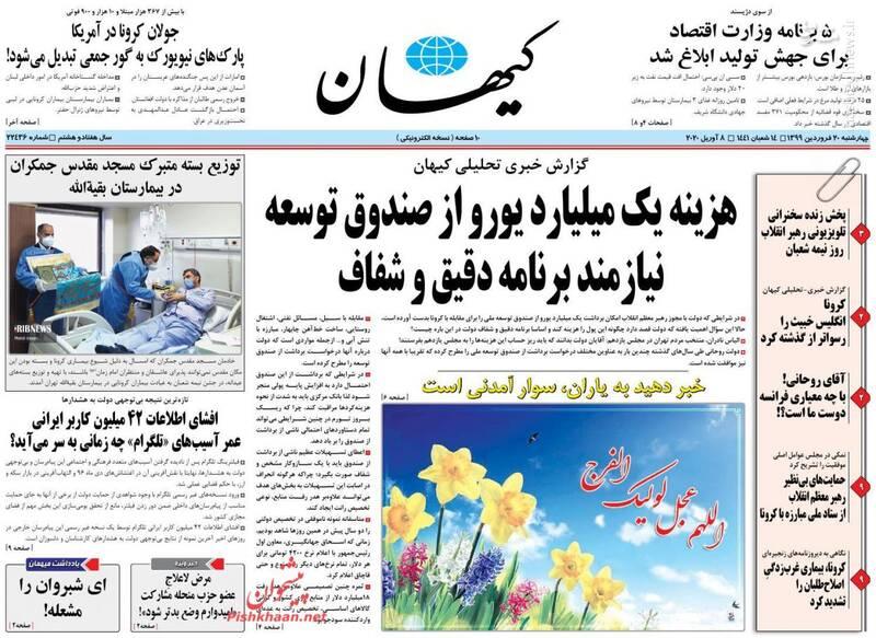 کیهان: هزینه یک میلیارد یورو از صندوق توسعه نیازمند برنامه دقیق و شفاف