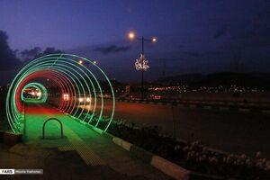 عکس/ چراغانی شهر در شب میلاد حضرت ولی عصر(عج)