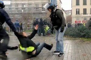 تفاوت جالب تجهیزات پلیس و پرستاران فرانسوی!