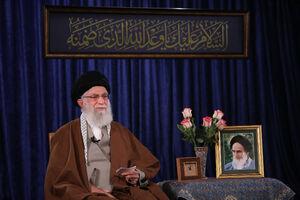 عکس/ سخنرانی رهبر انقلاب به مناسبت ولادت امام زمان(عج)