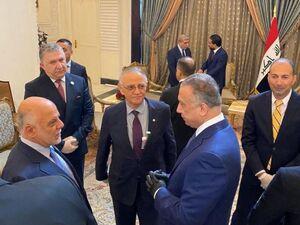 عکس/ «مصطفی الکاظمی» پس از جلسه معارفه به عنوان نخست وزیر