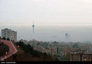جلوه های زیبای  مه گرفتگی  در تهران