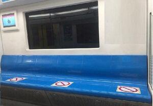 اجرای طرح فاصله گذاری اجتماعی در بی آر تیهای و مترو تهران