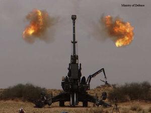 فیلم/ حمله توپخانه ای هند به پاکستان