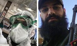 این پرستار داوطلب، مدافع حرم است +عکس