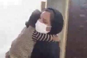لحظه دیدار دختربچه پرستار گلپایگانی پس از ۳۵ روز