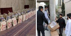کمک رسانی یک مسجد به خانوادههای آسیبدیده از کرونا +عکس
