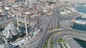 تصاویر هوایی از سکوت در استانبول