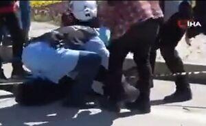 دستگیری یک فرد کرونایی از هنگام فرار از بیمارستان!