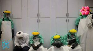 عکس/ همراه با طلبههای جهادی در غسالخانه کروناییها
