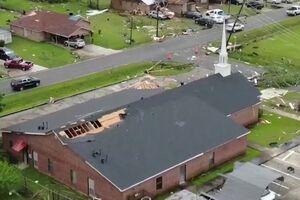 تصاویر هوایی از خسارت طوفان در آمریکا
