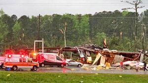 فیلم/ خسارتهای مهیب طوفان در تگزاس