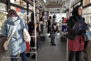 فاصلهگذاری اجتماعی در اتوبوسهای پایتخت