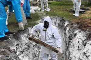 دفن یک کرونایی در یکی از روستاهای ساری