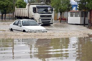 فیلم/ سیلاب در خیابانهای بیرجند